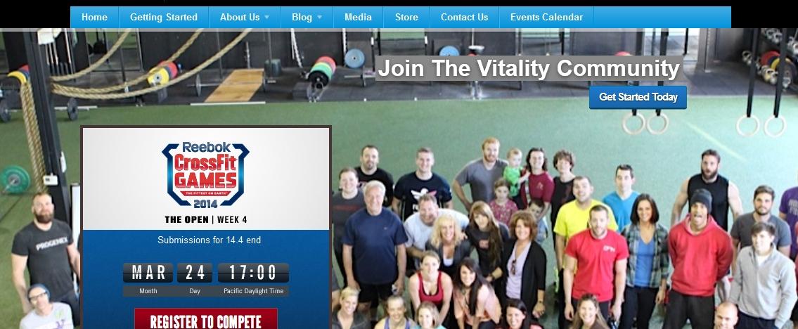 Crossfit Vitality Homepage Top