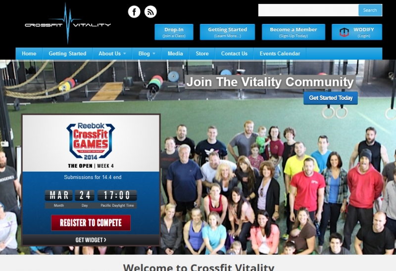 Crossfit Vitality Homepage Top